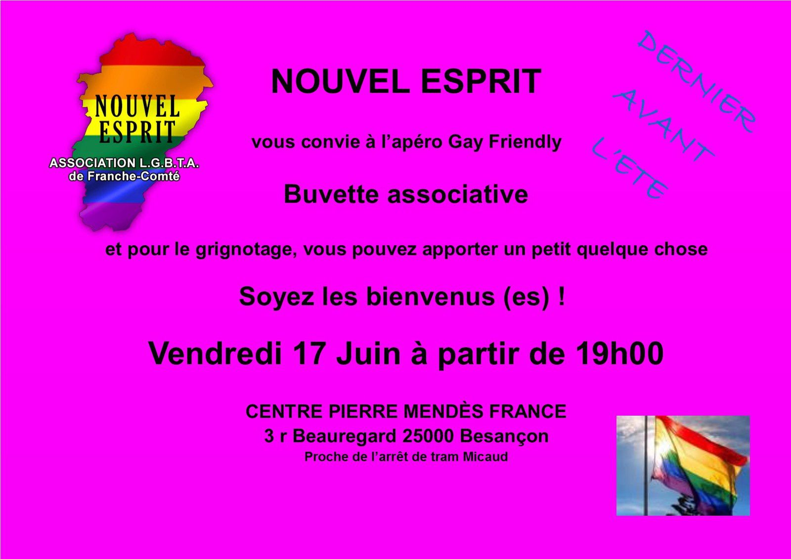 Apéro Gay-Friendly Vendredi 17 Juin 2016