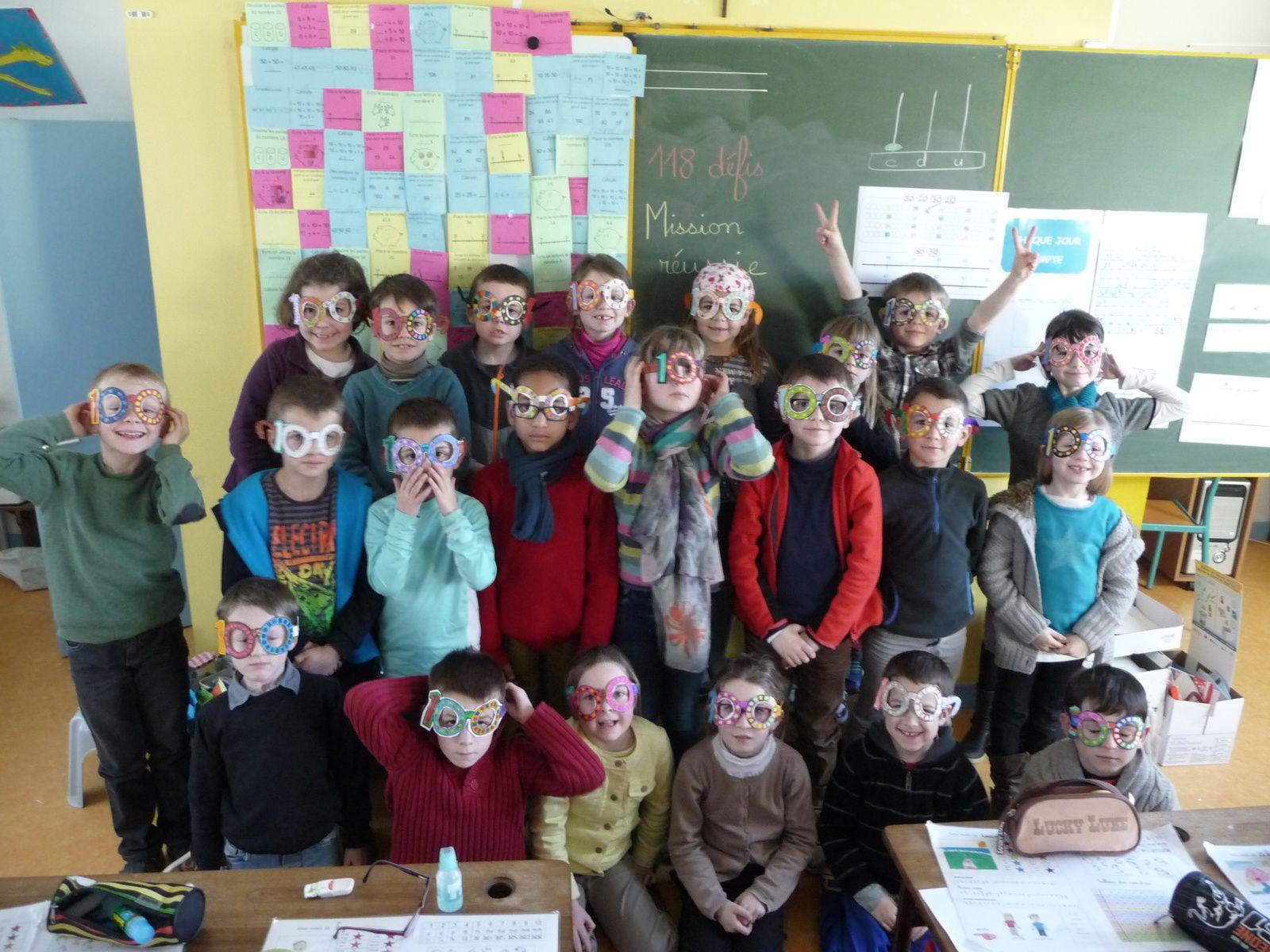 La classe de CP fête son centième jour d'école