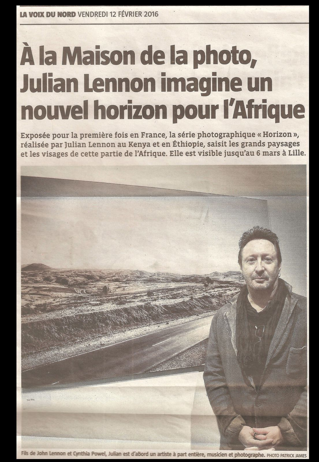 "One year ago you came to the ""Maison de la Photographie "" in Lille and you exhibited your collection of photographs called 'HORIZON"