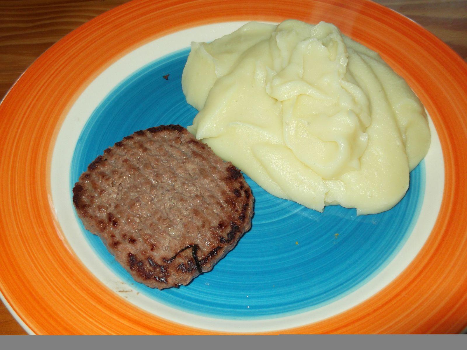 steak haché + purée