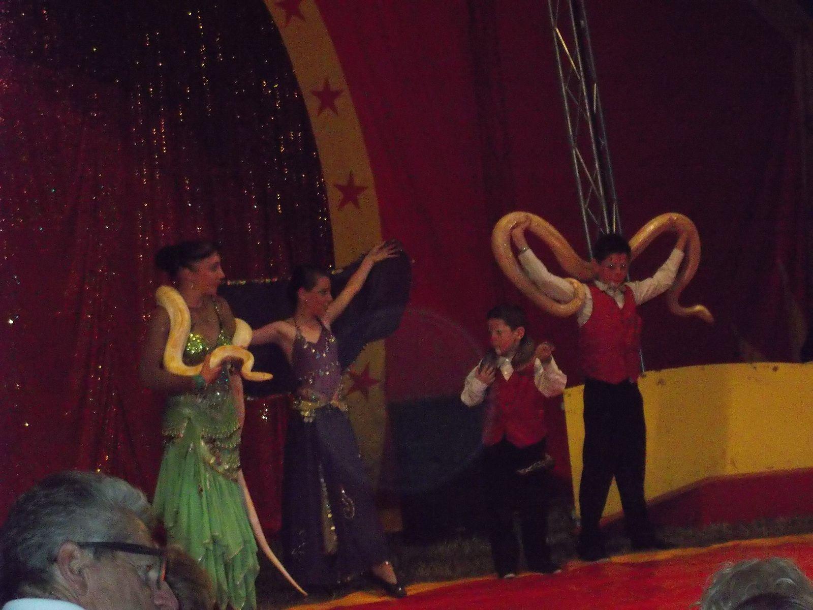 le spectacle du petit cirque et une Lily ravie