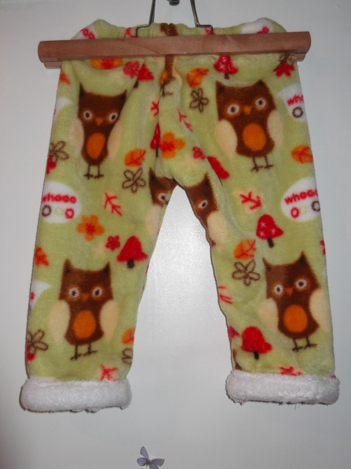 une tenue en polaire pour les 1 an de Anaël ...faite en septembre .. la voici portée en janvier