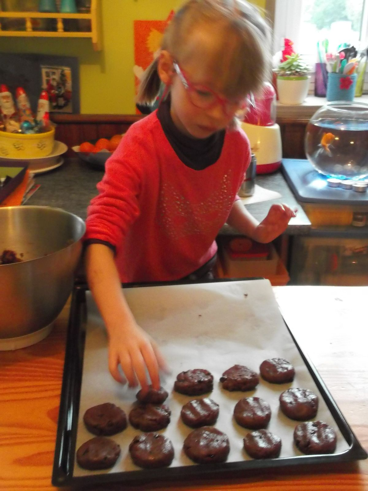 fabrication de cookies et de meringues
