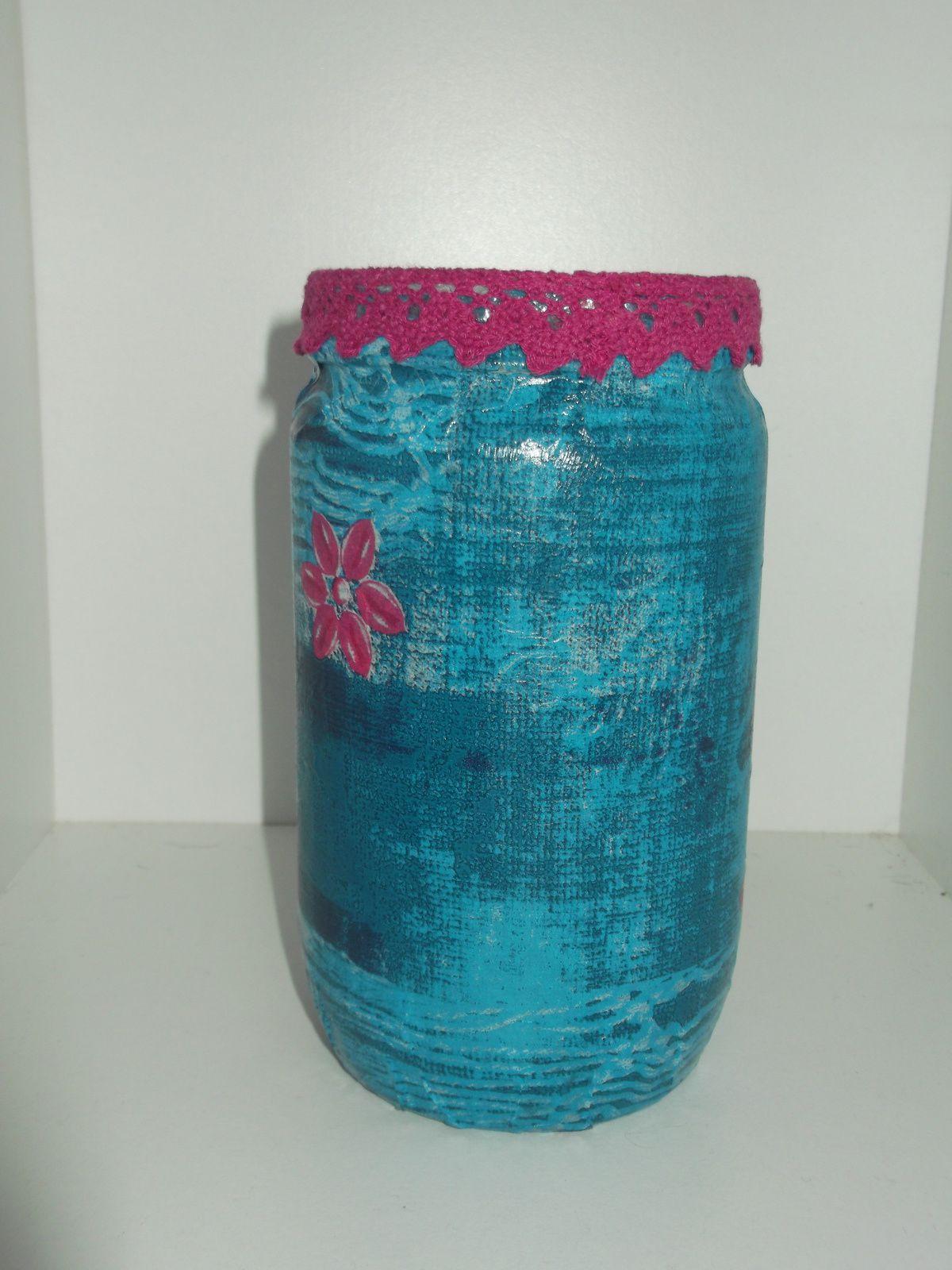 un nouveau vase en décopatch a retrouver sur ma boutique