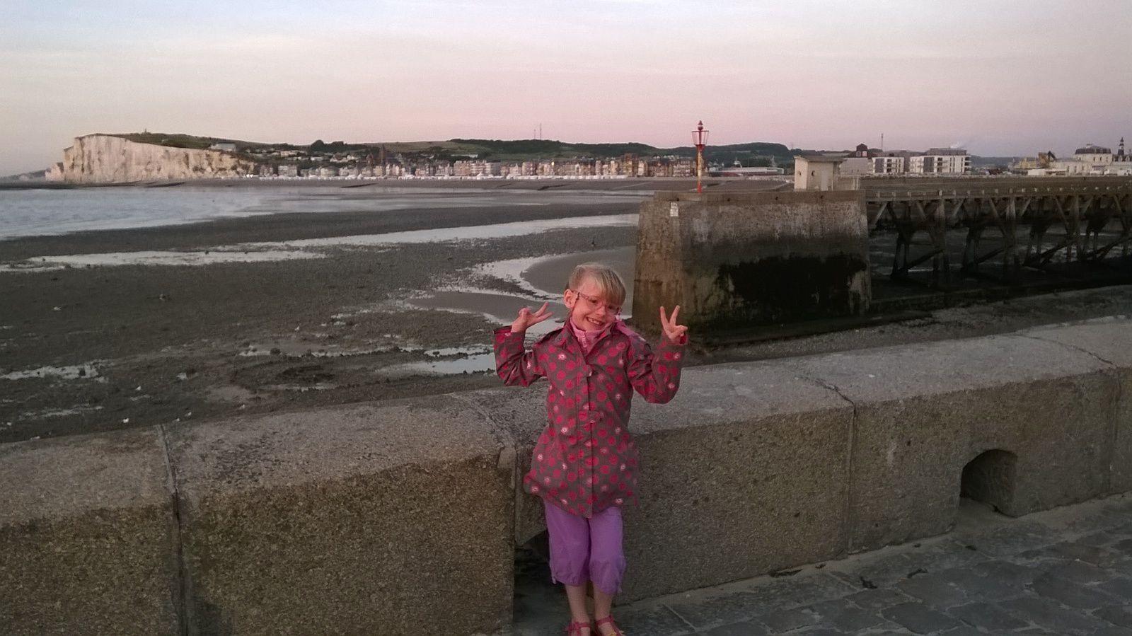 Balade au Tréport (76) avec gwen la grande cousine !