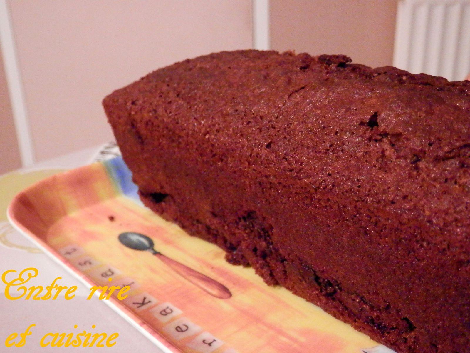 Cake au Son de blé et palets de chocolat