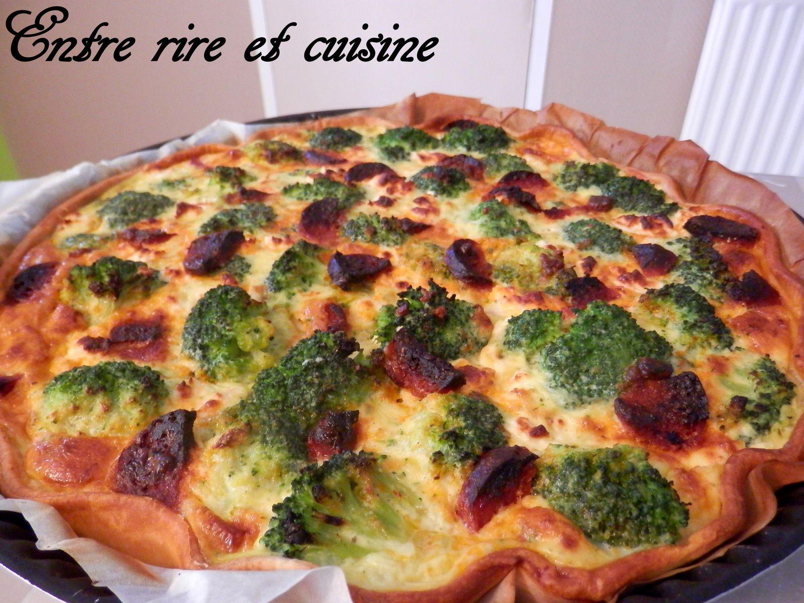 Tarte à la Feta et aux Brocolis &quot&#x3B;Terre Mer&quot&#x3B; au Thon et Chorizo
