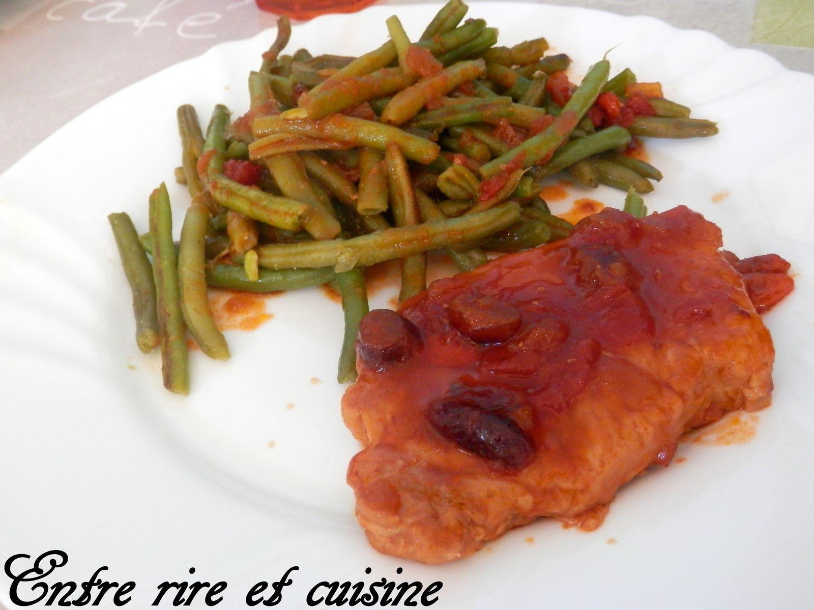 Filets de Porc sauce sucrée-salée aux Confit d'oignons/Crannberries/Baies de Goji
