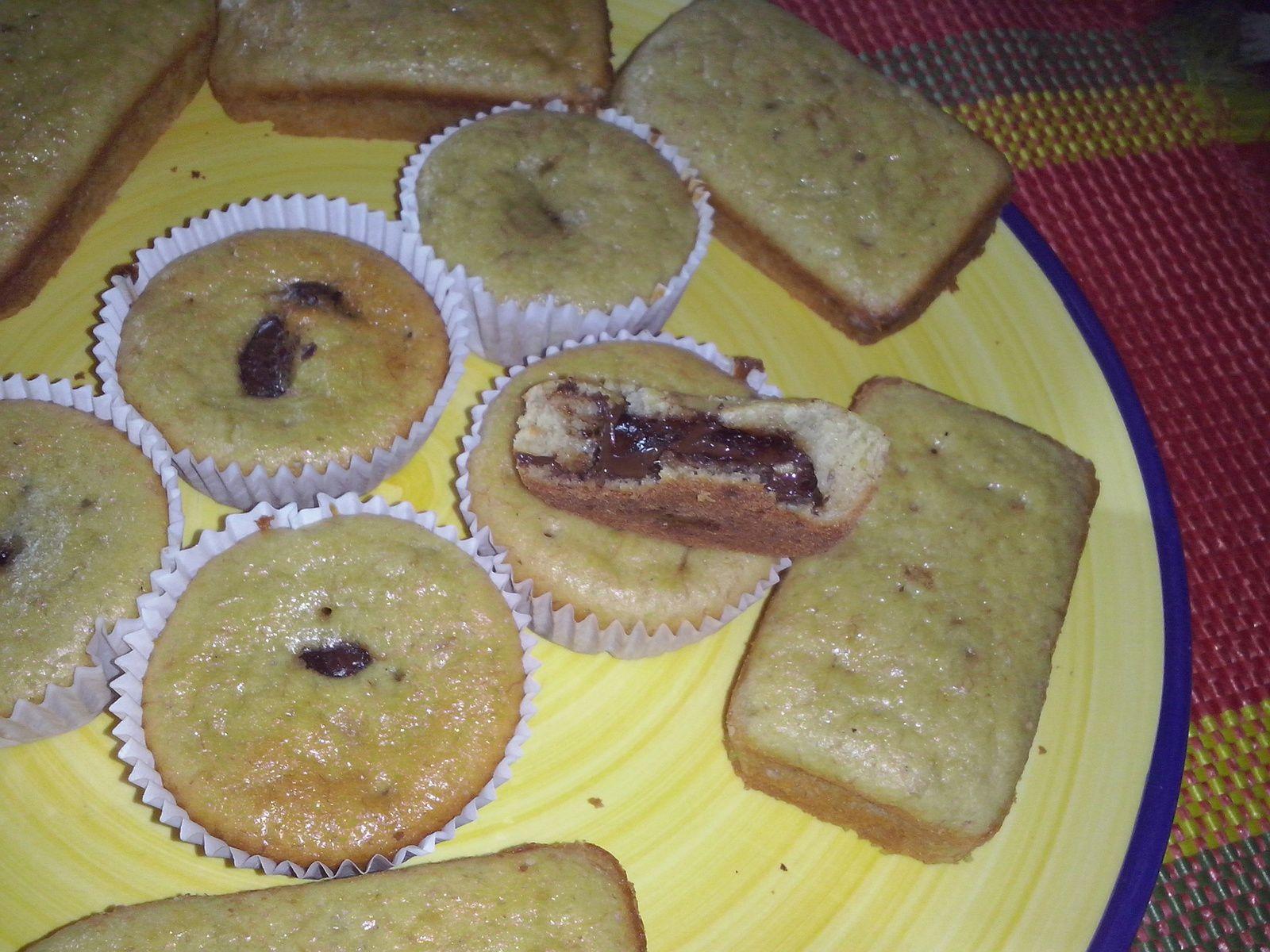 Cakes banane - chocolat
