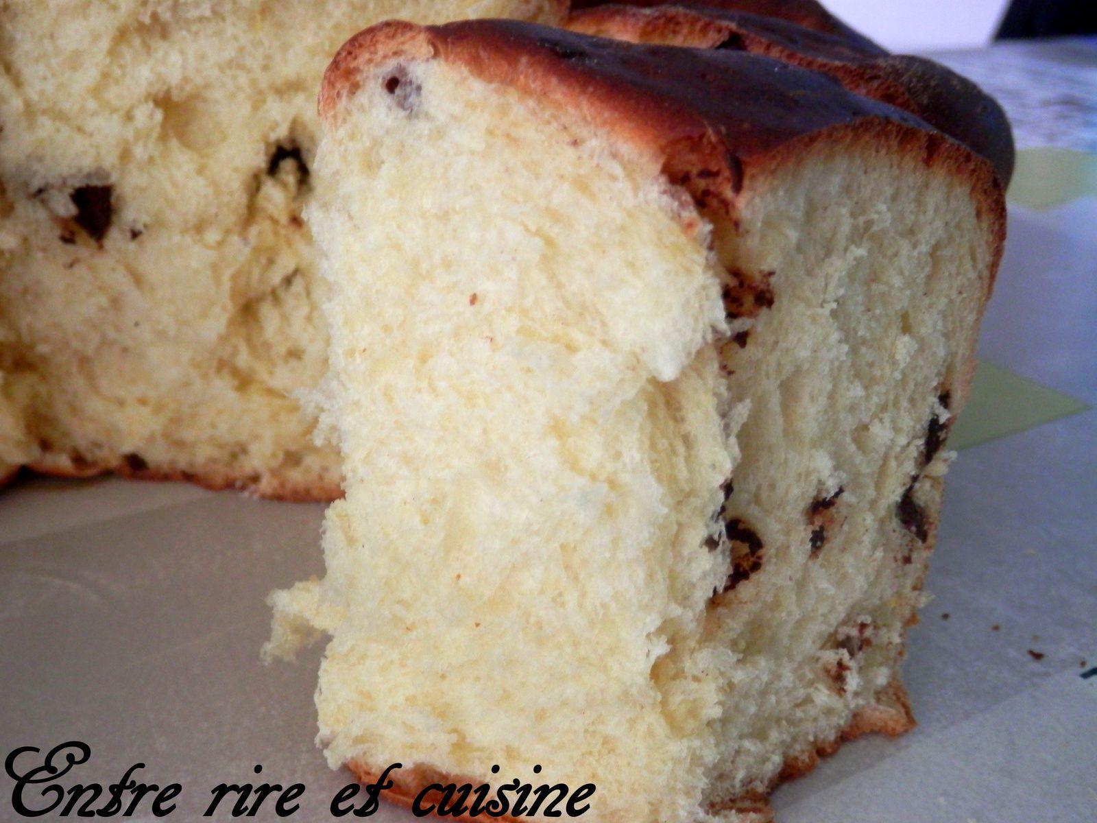 Brioche au Jus d'Orange et Chocolat (sans beurre)