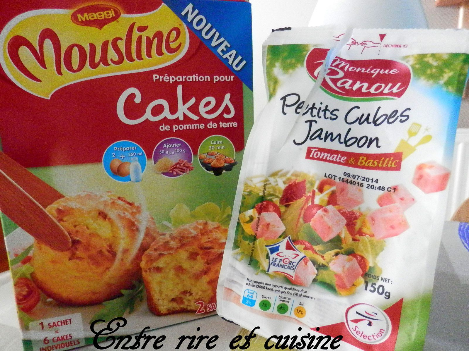 Moelleux Mousline® Jambon / 2 fromages