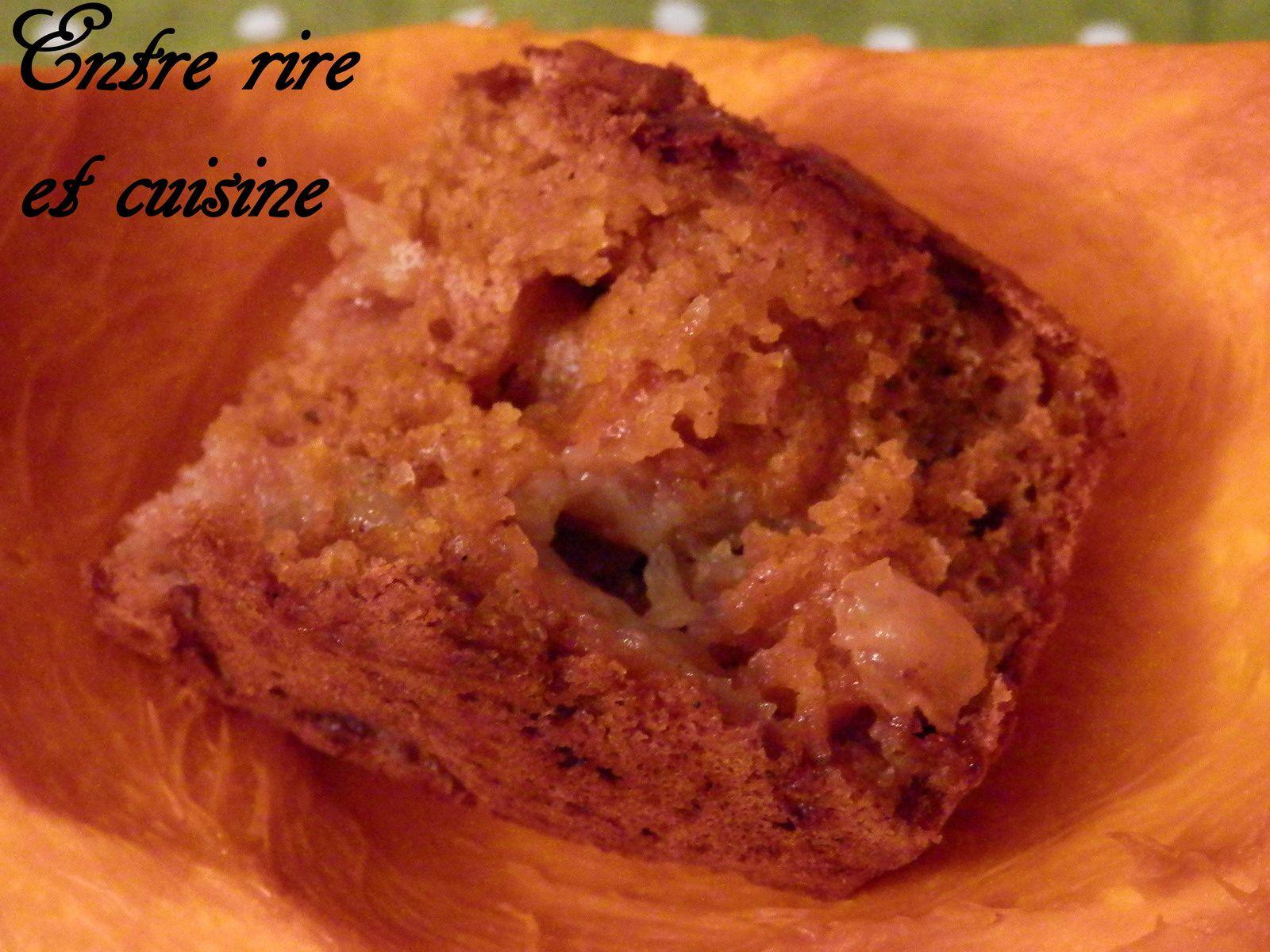Petits cakes Pomme/Potimarron et Raisins secs