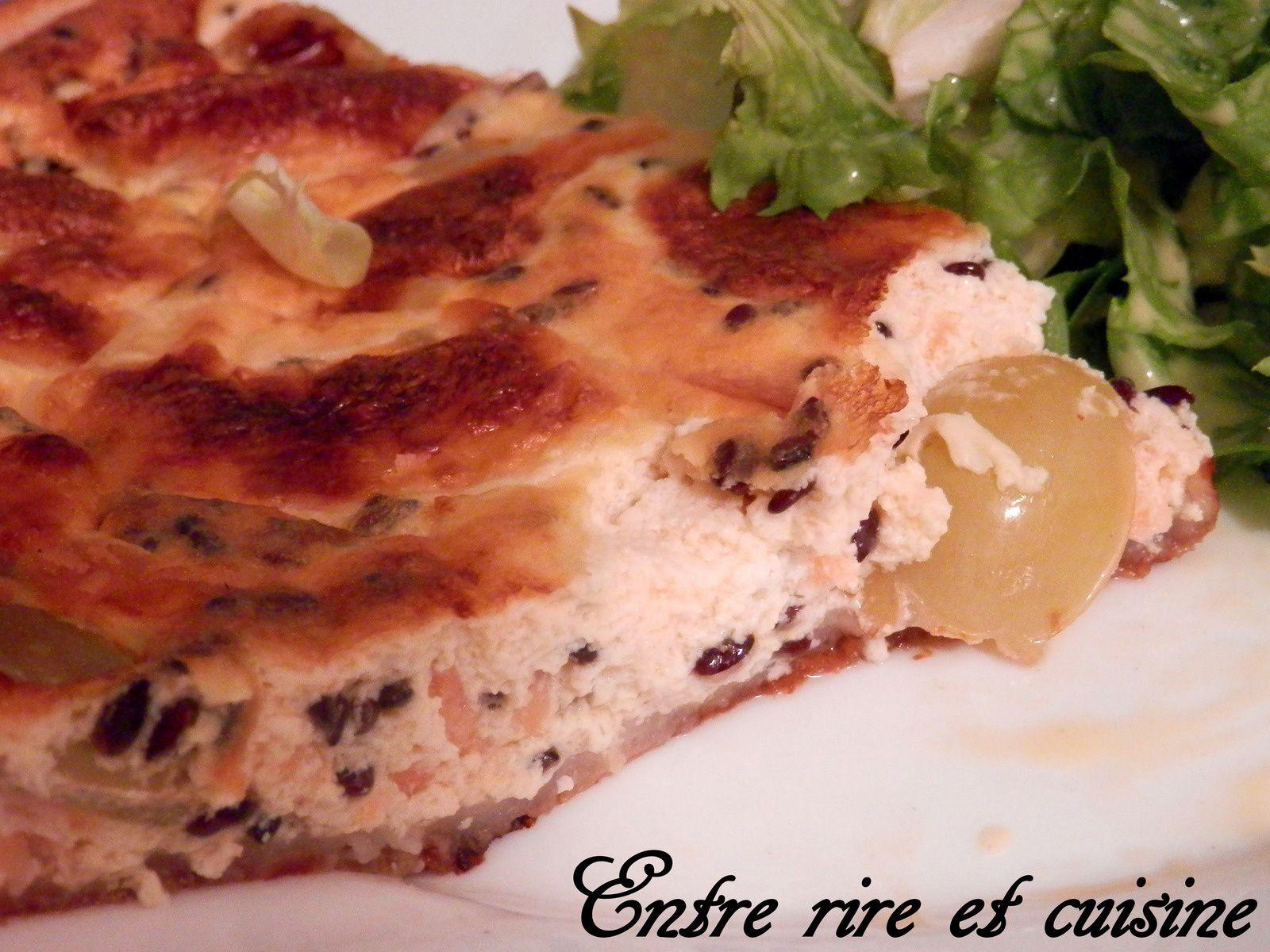 Quiche au Saumon et Raisin frais (légère)