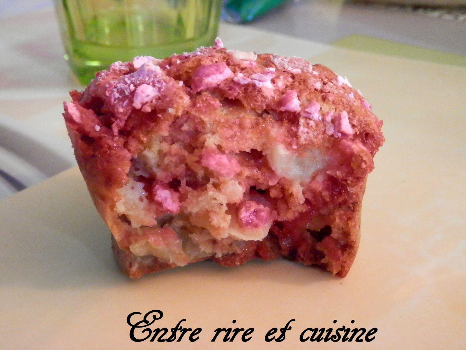 Muffins Pomme - Pralines roses au lait Ribot