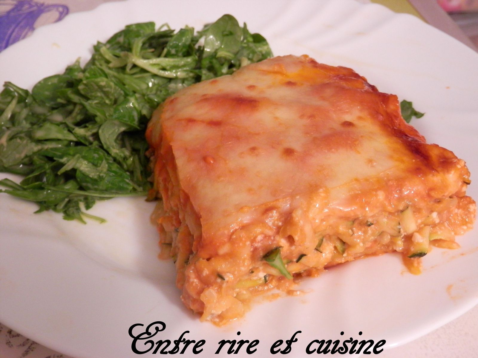 Lasagnes aux Courgettes et Tofu - Sauce tomate/lait de coco