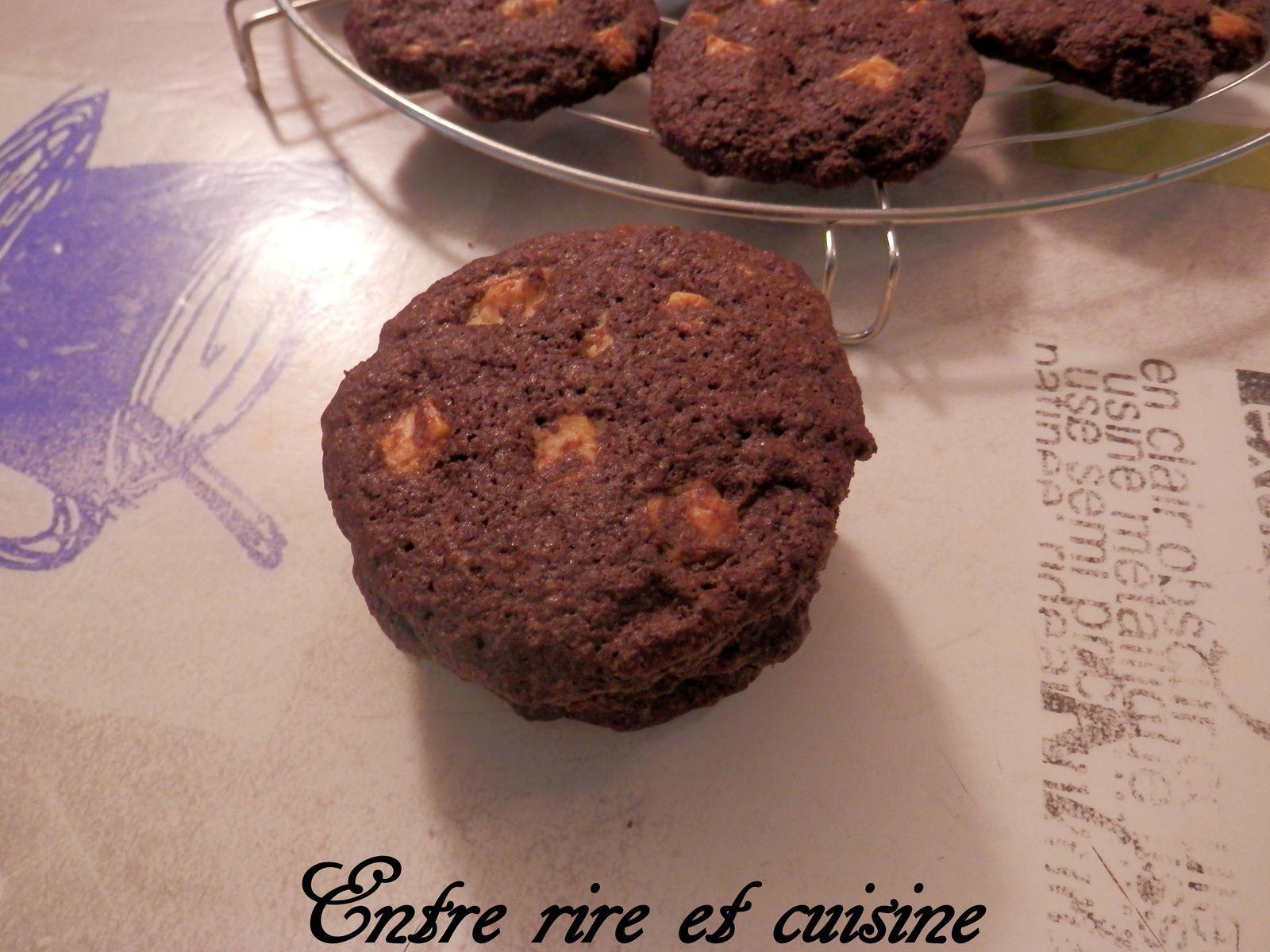 Cookies au Chocolat lait/Cacao et Pépites de chocolat blanc