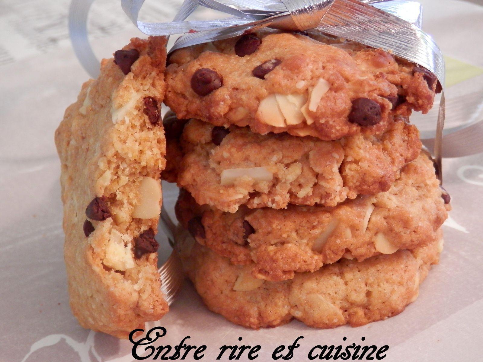 Cookies Amandes et Chocolat blanc