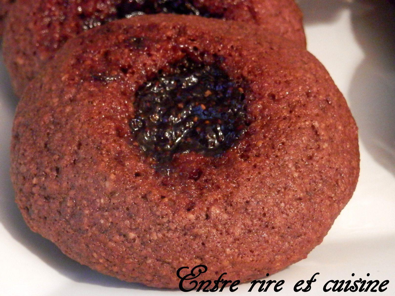 Linzele cacao (Boules de Linz) à la confiture de framboises