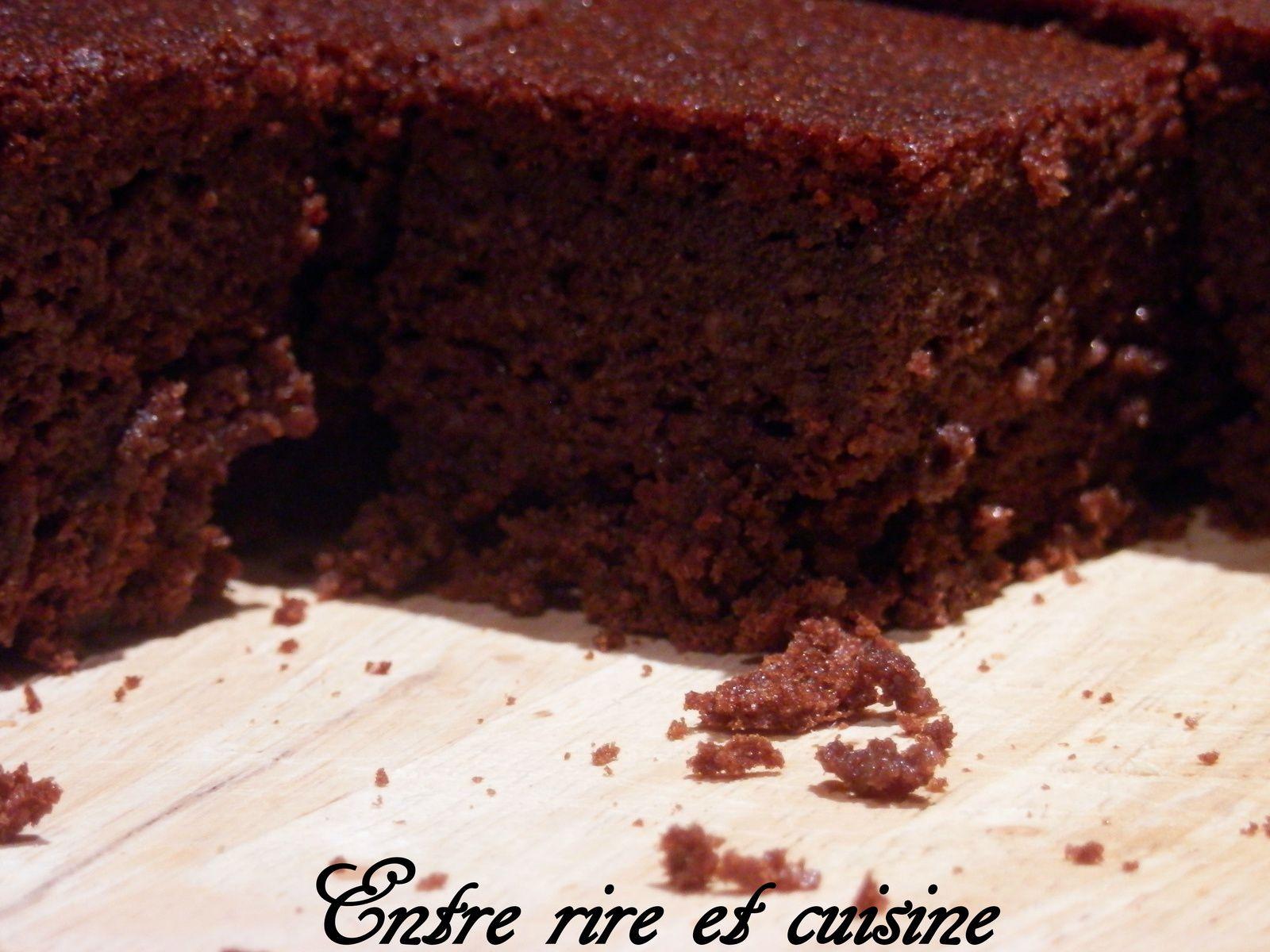 Gros g teau moelleux et fondant au chocolat entre rire et cuisine - Fondant au chocolat en poudre ...