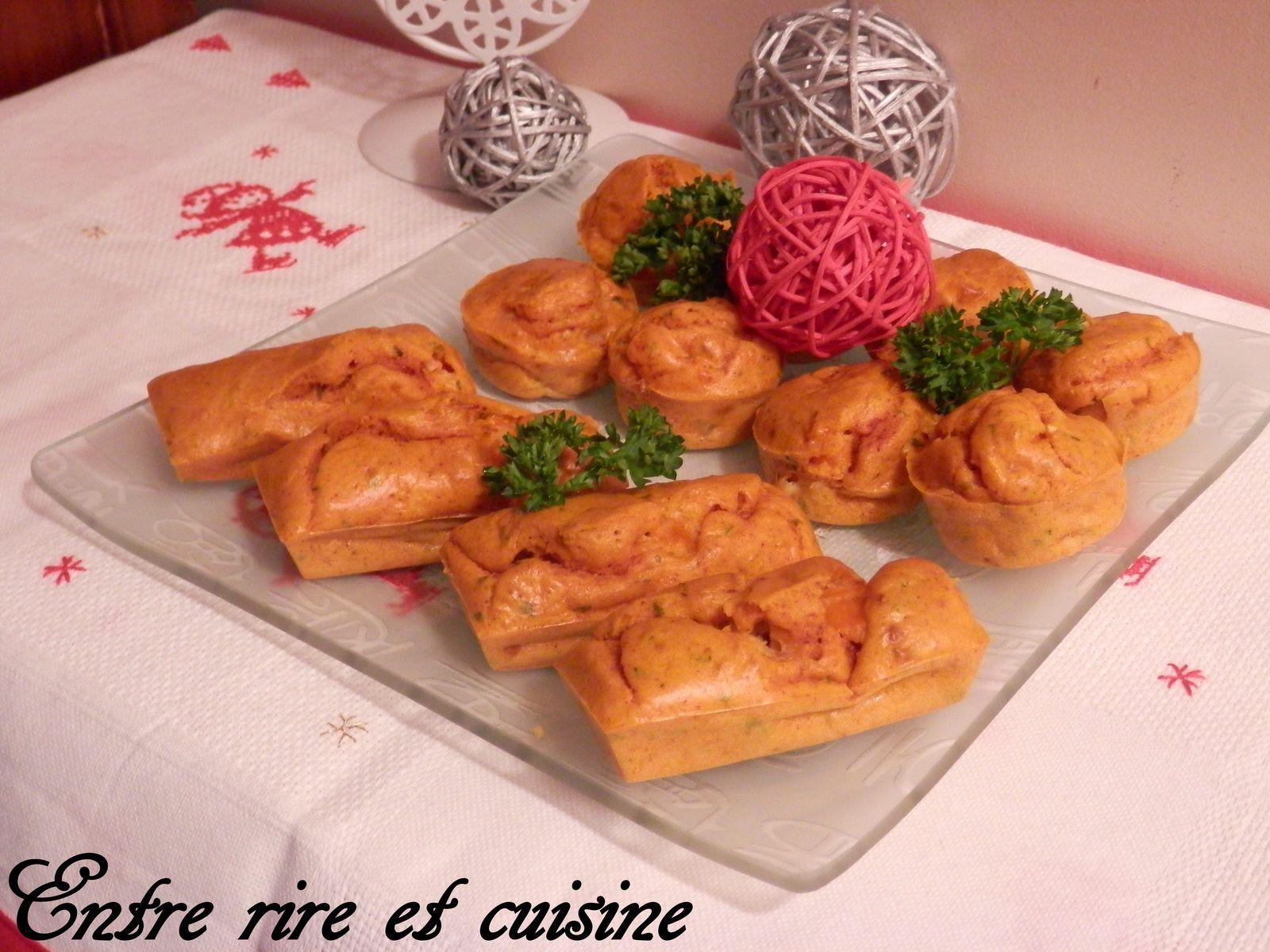 Petits muffins aux Crevettes et Curcuma