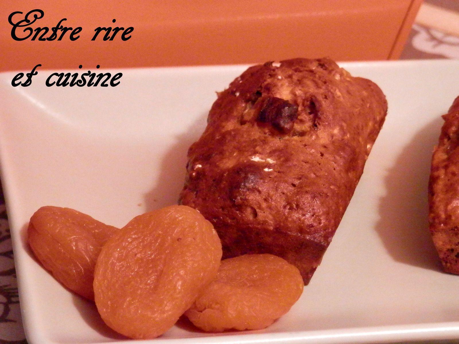Petits muffins-cakes aux Abricots secs