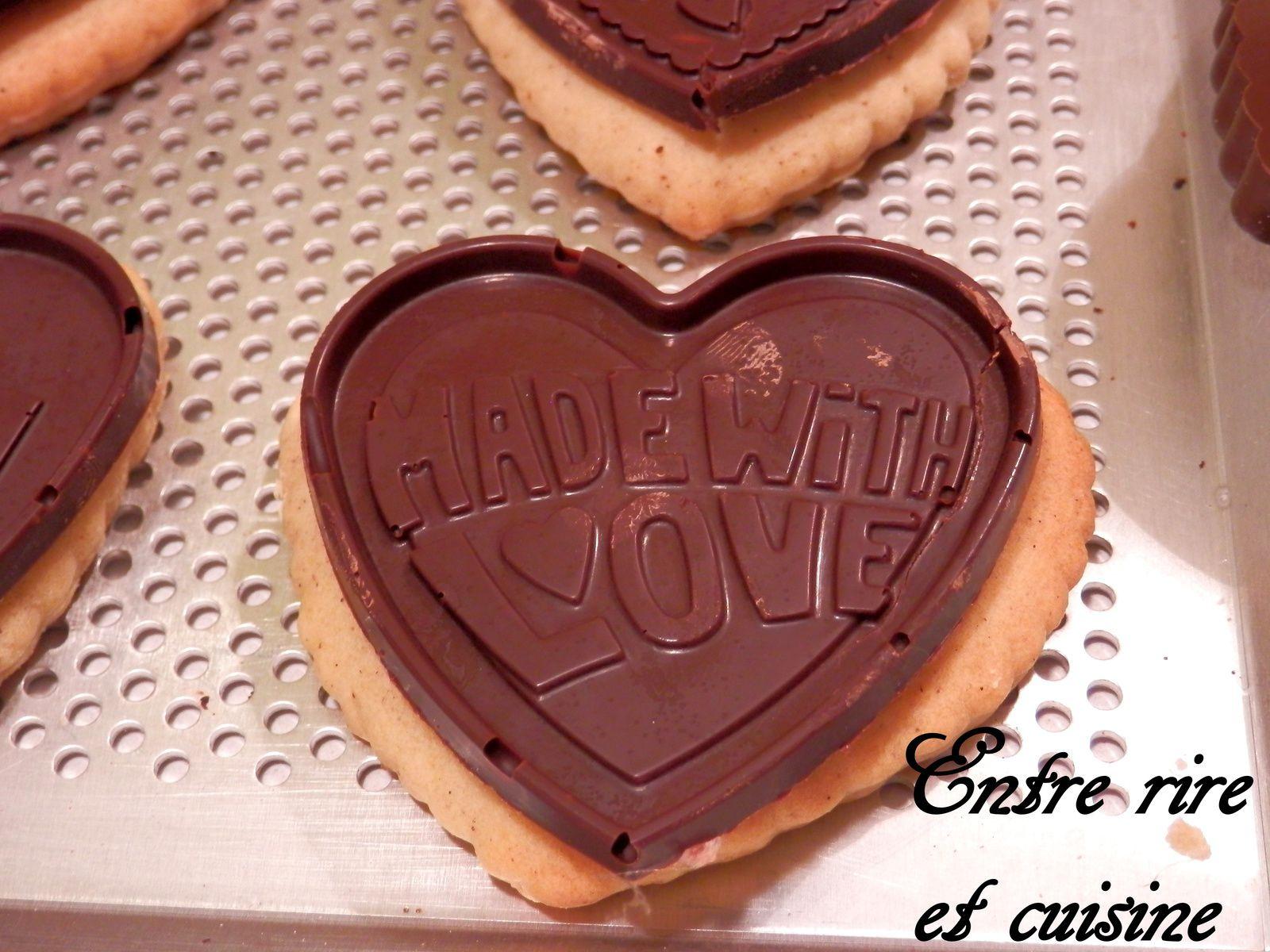 """Petits Ecoliers maison forme """"Coeur"""" au Chocolat"""