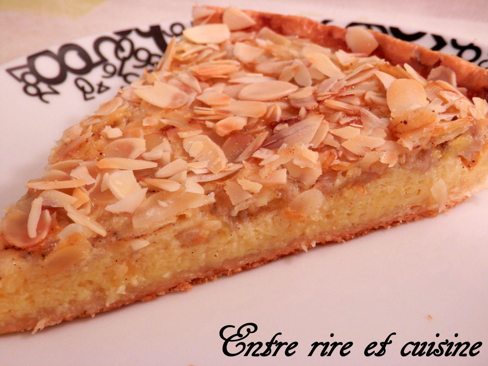 Tarte Banane / Lait concentré sucré / Amandes