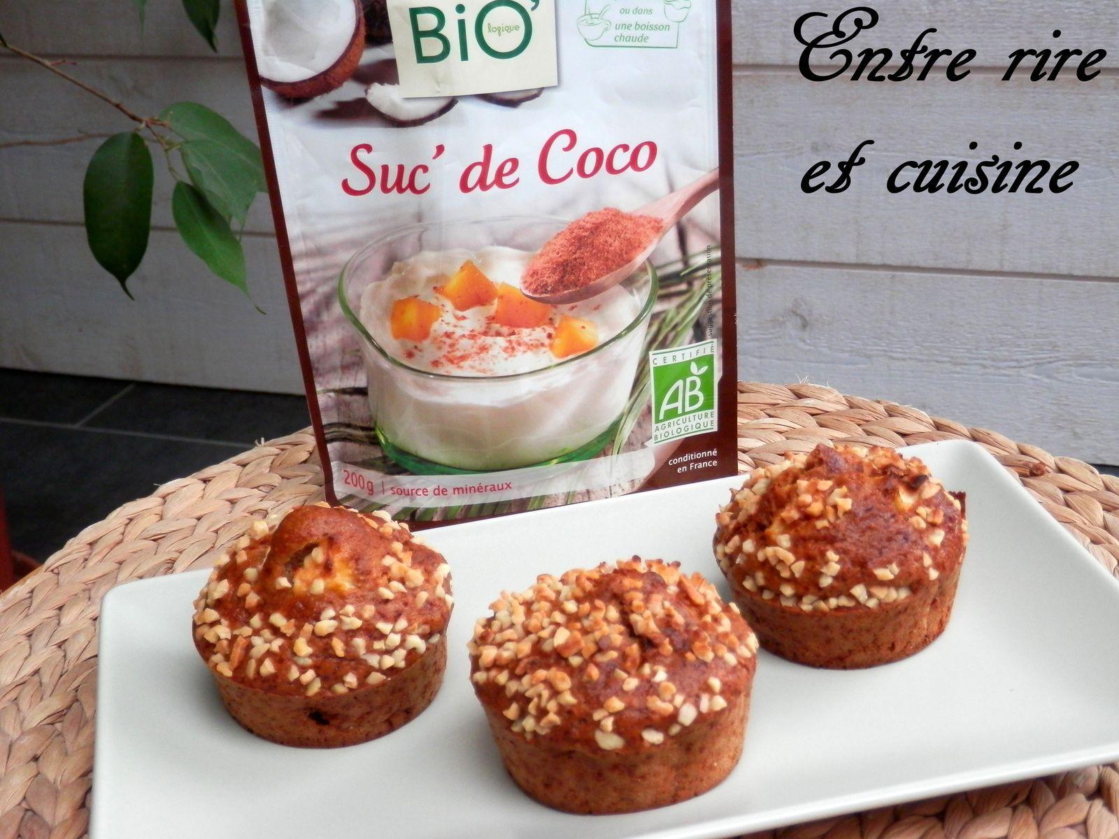 Recettes Autour d'un Ingrédient # 5: Muffins légers à la Pomme / Miel / Lait de soja