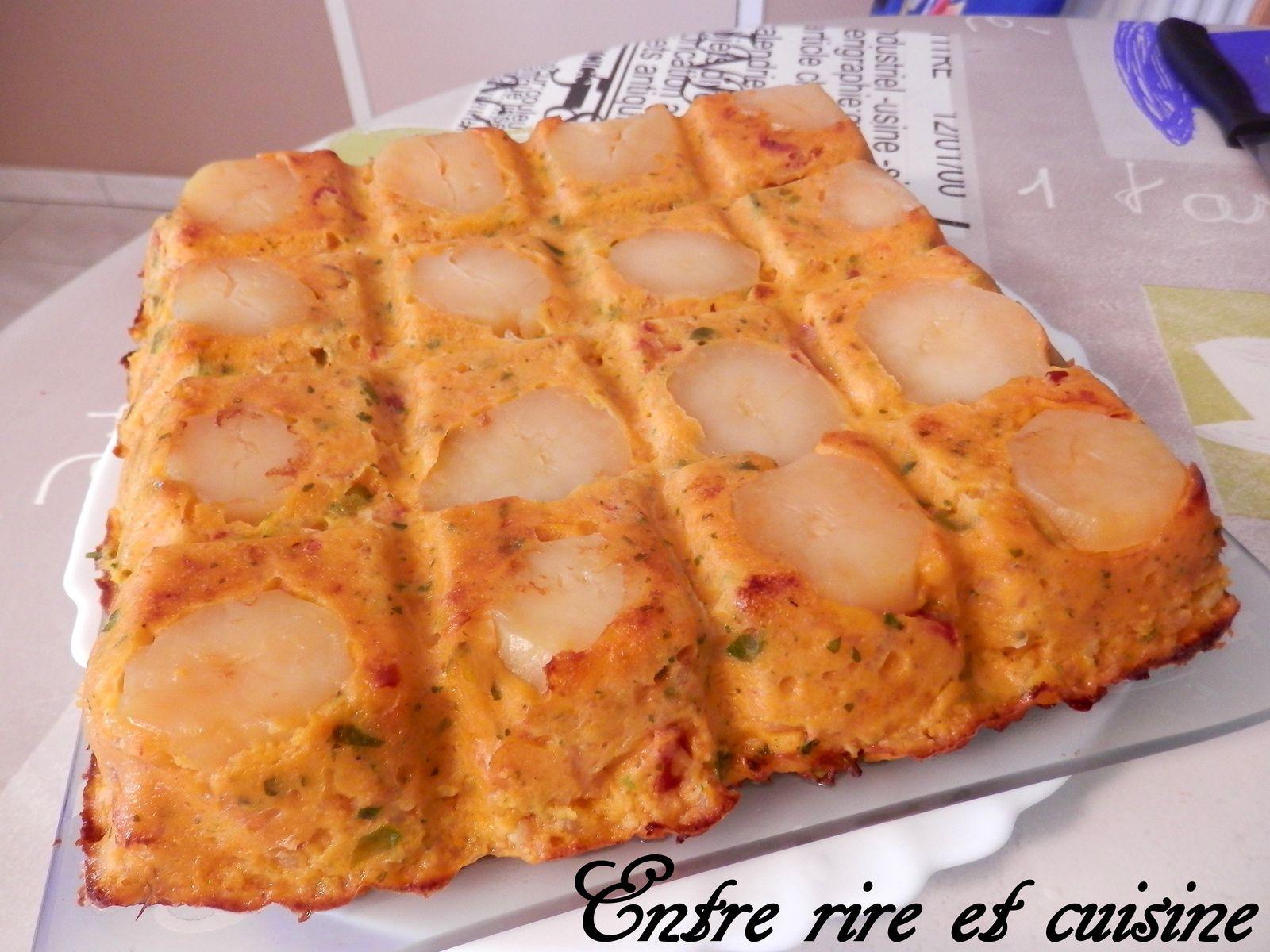 Gâteau &quot&#x3B;suédois&quot&#x3B; détourné {crevettes - chorizo}
