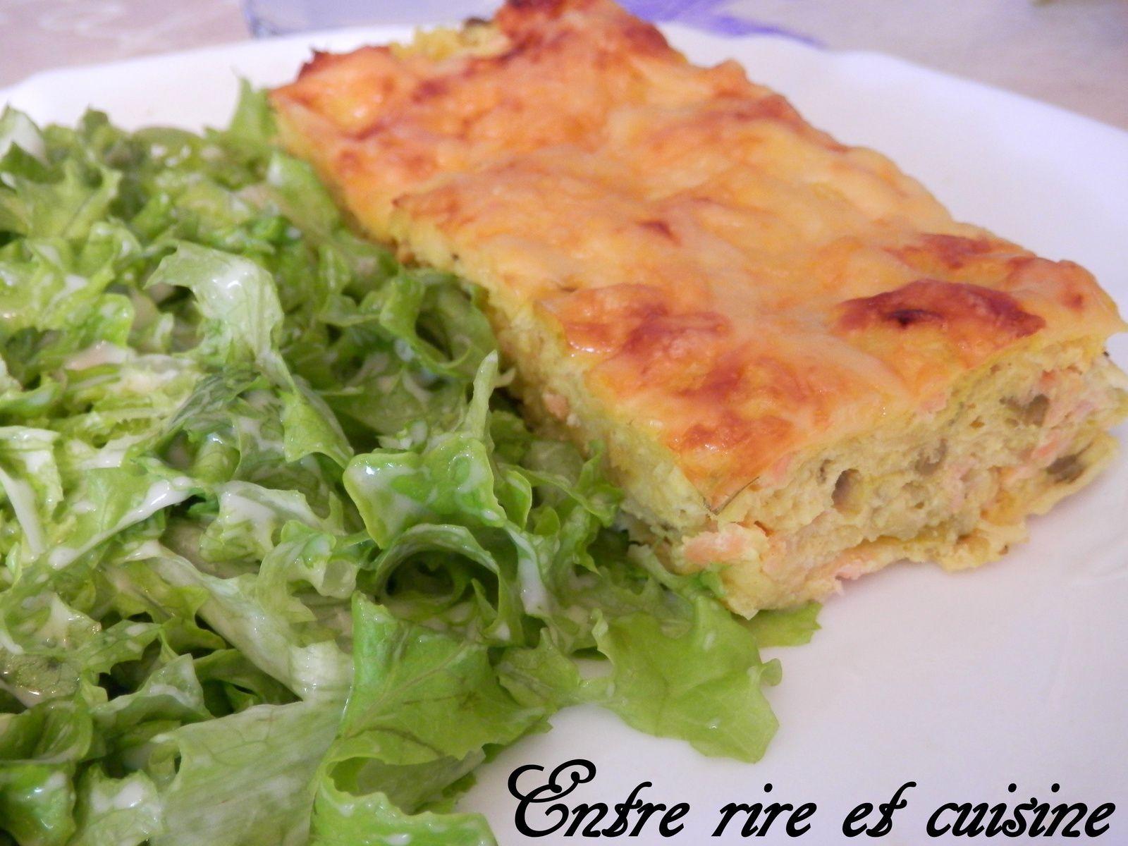 Quiche sans pâte Poireau / Saumon fumé / Tofu soyeux / Origan