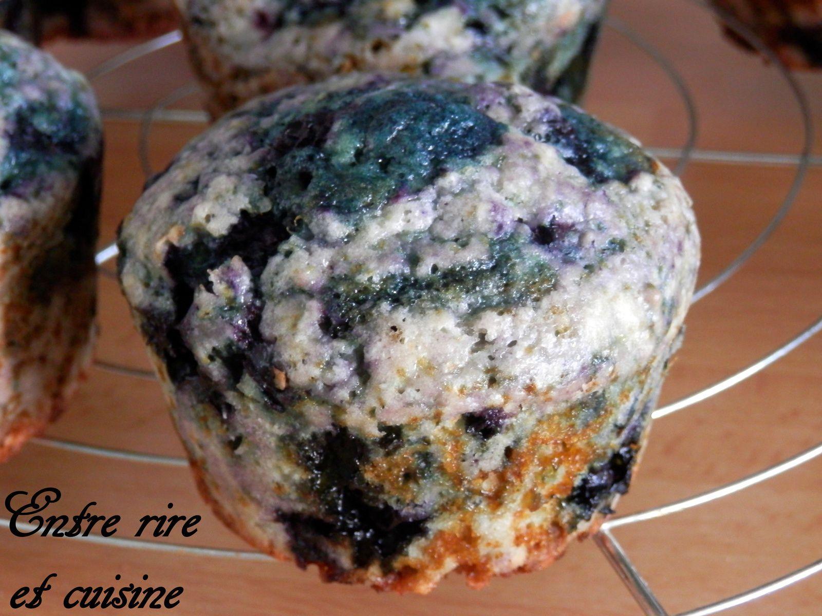 Muffins Citron - Myrtilles