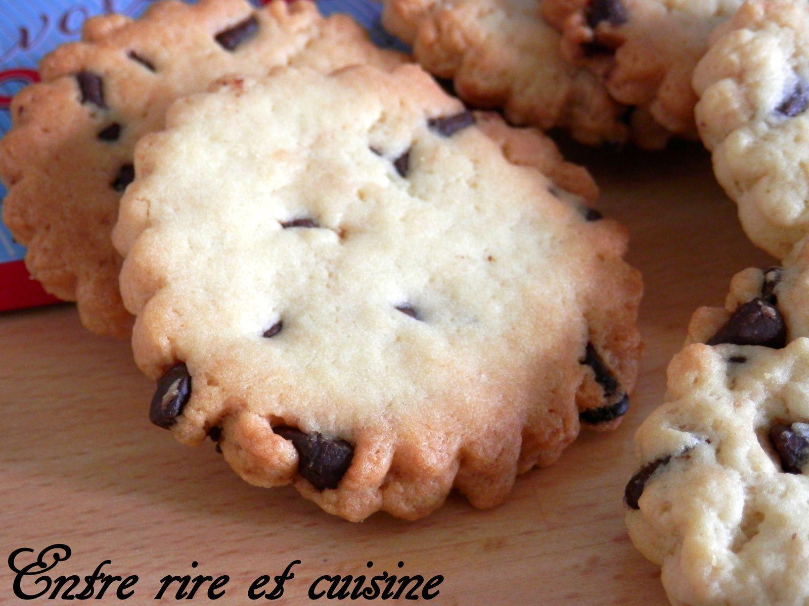 Biscuits sablés aux Pépites de Chocolat façon cookies