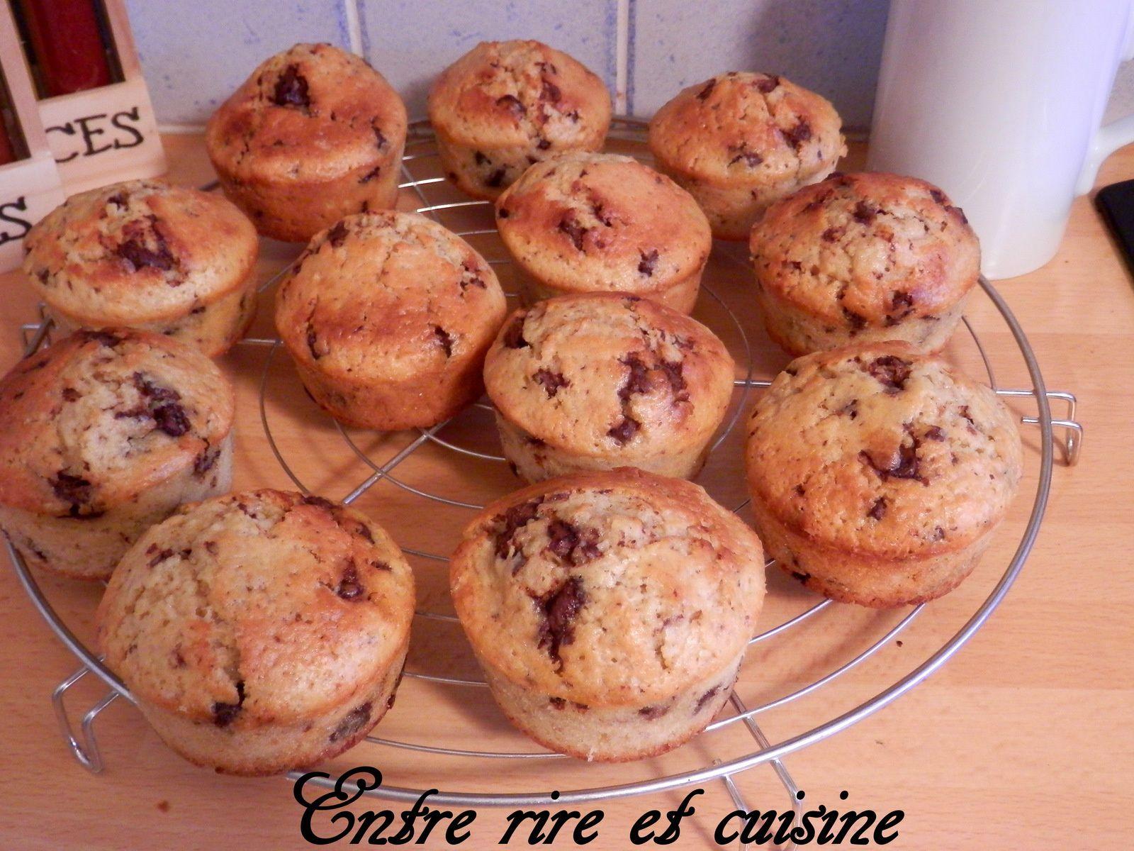 Muffins aux Chunks chocolat au lait/Amande amère/Lait Ribot