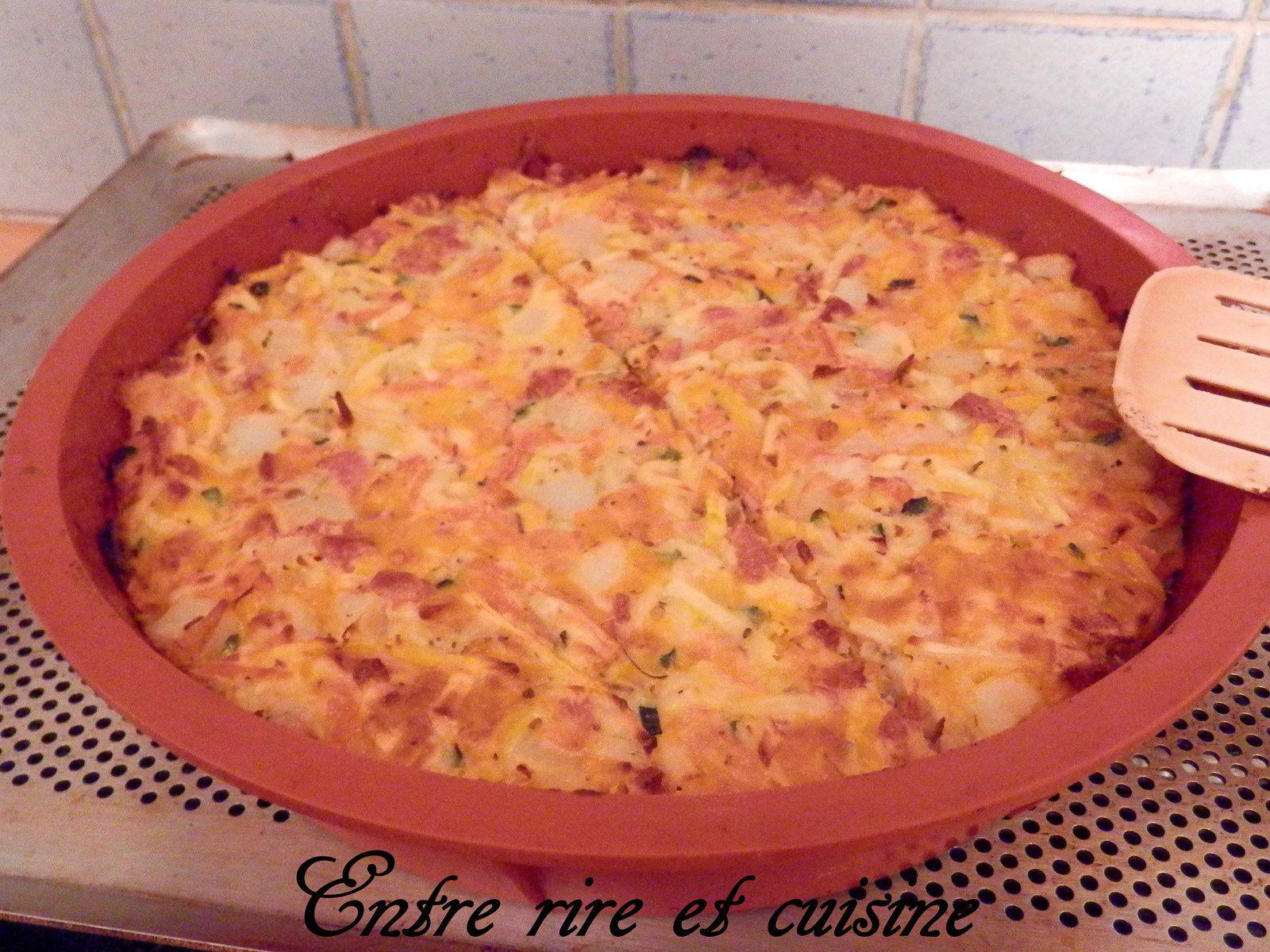 Gâteau de Légumes aux lardons