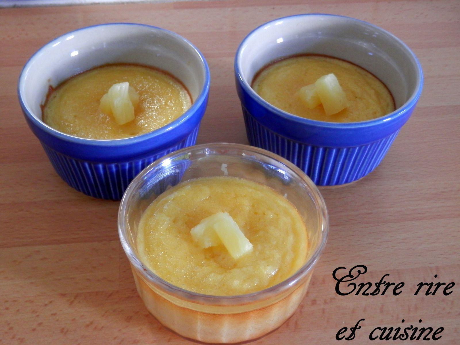 Défi culinaire # 10 - Moelleux à l'Ananas