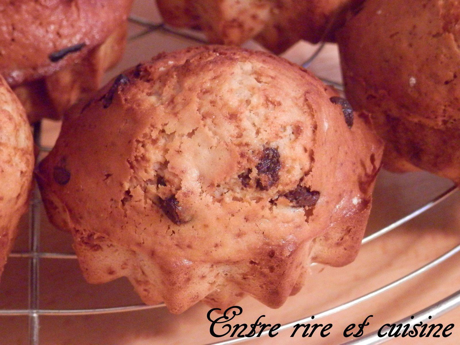 Muffins lait concentré sucré et pépites de chocolat