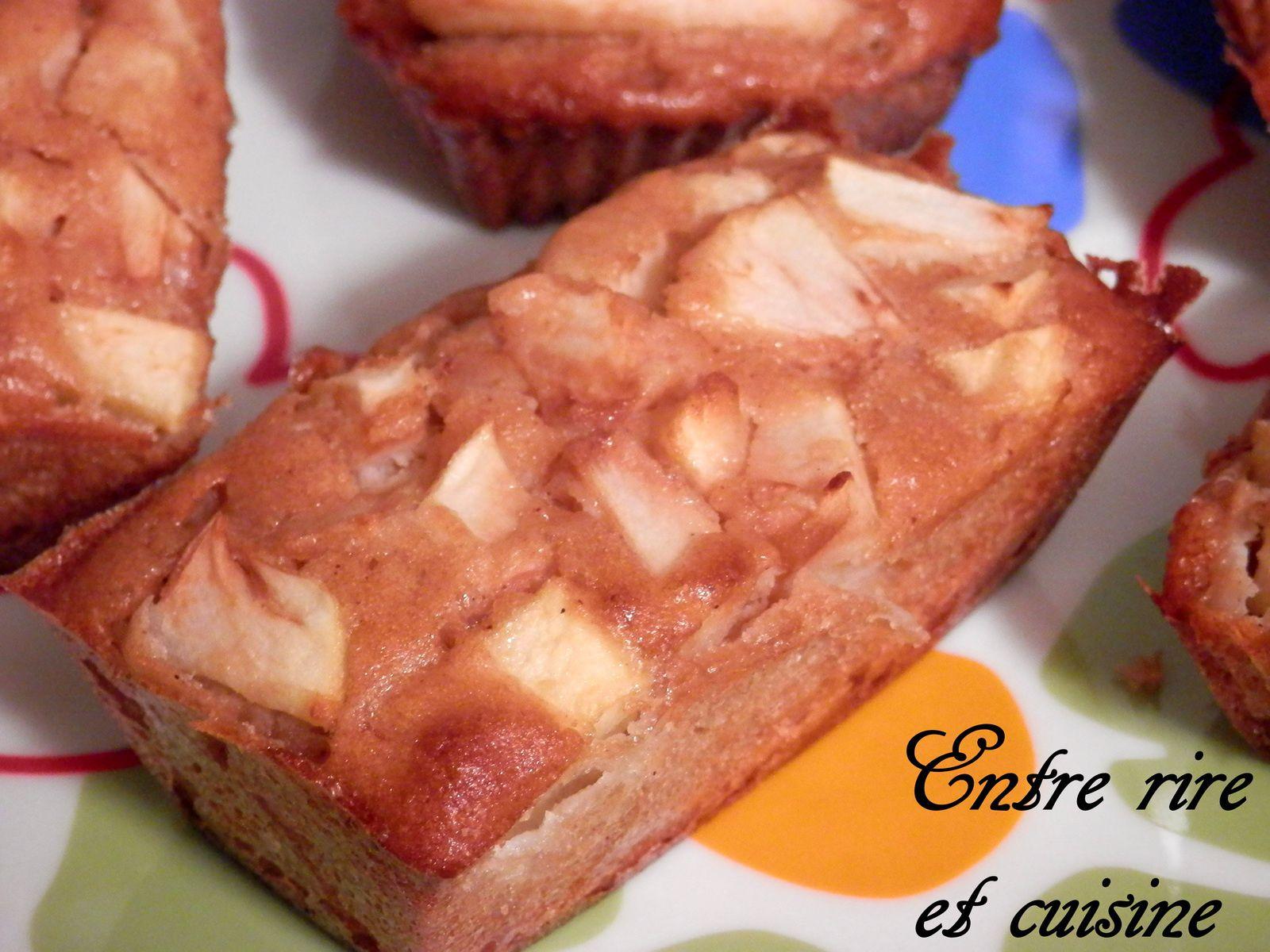 Cakes aux Pommes / Cannelle {sans gluten et sans lactose}