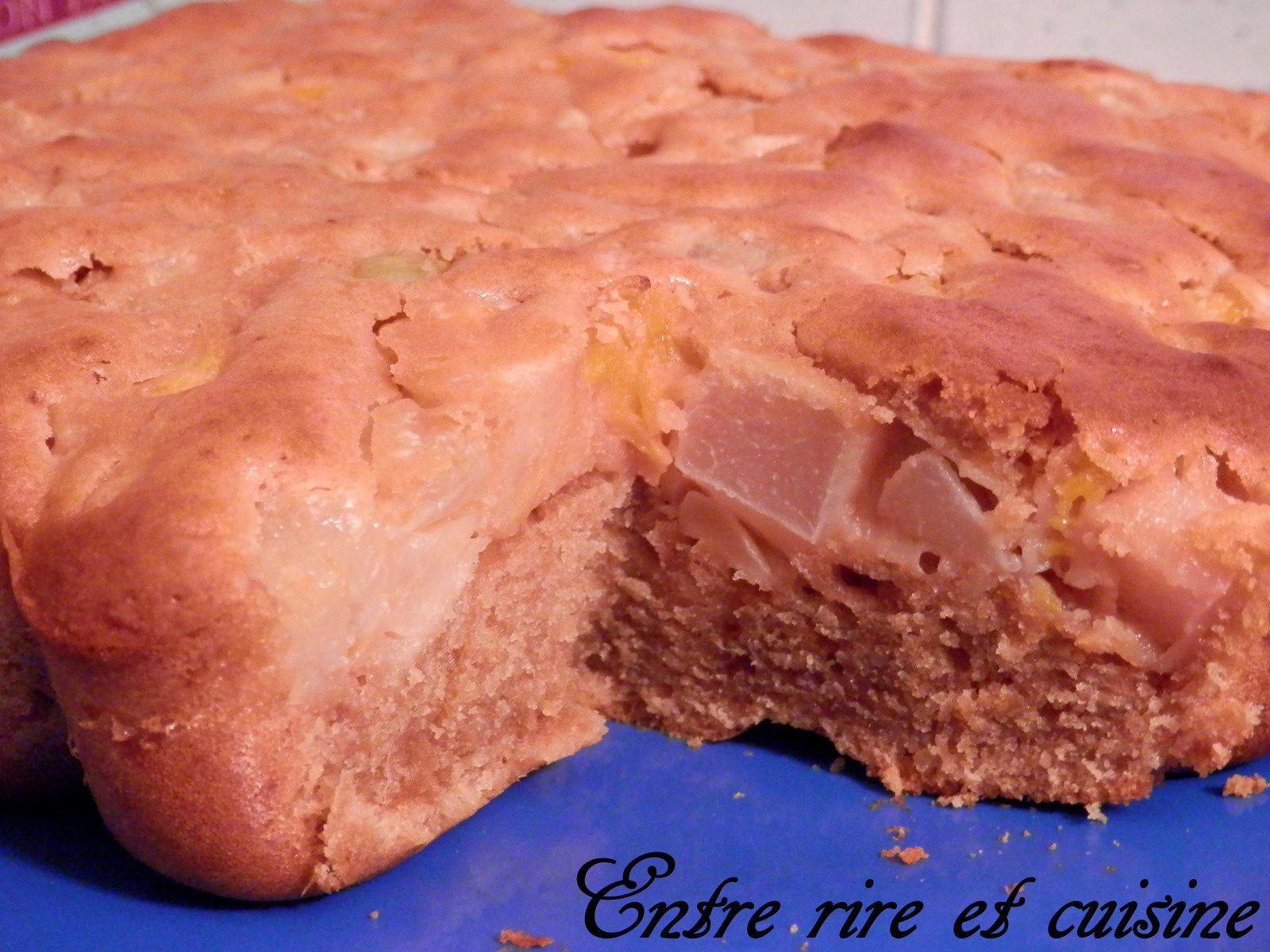 Gâteau Pralinoise / Cocktail de fruits