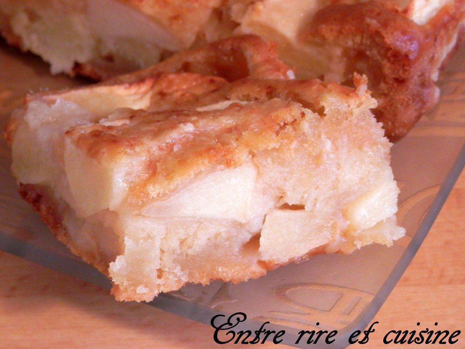 G teau pommes cannelle au lait concentr sans beurre entre rire et cuisine - Gateau sans beurre sans lait ...