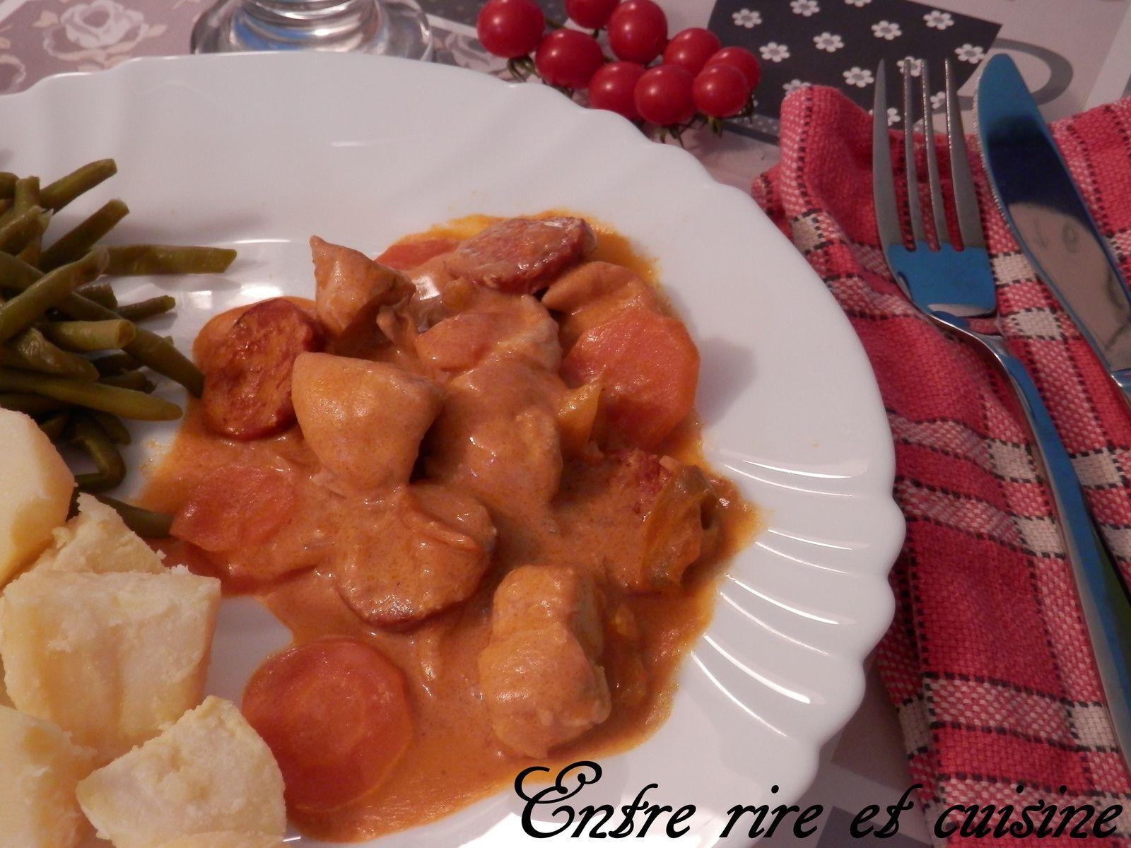 Poulet chorizo, poivrons et crème au paprika fumé