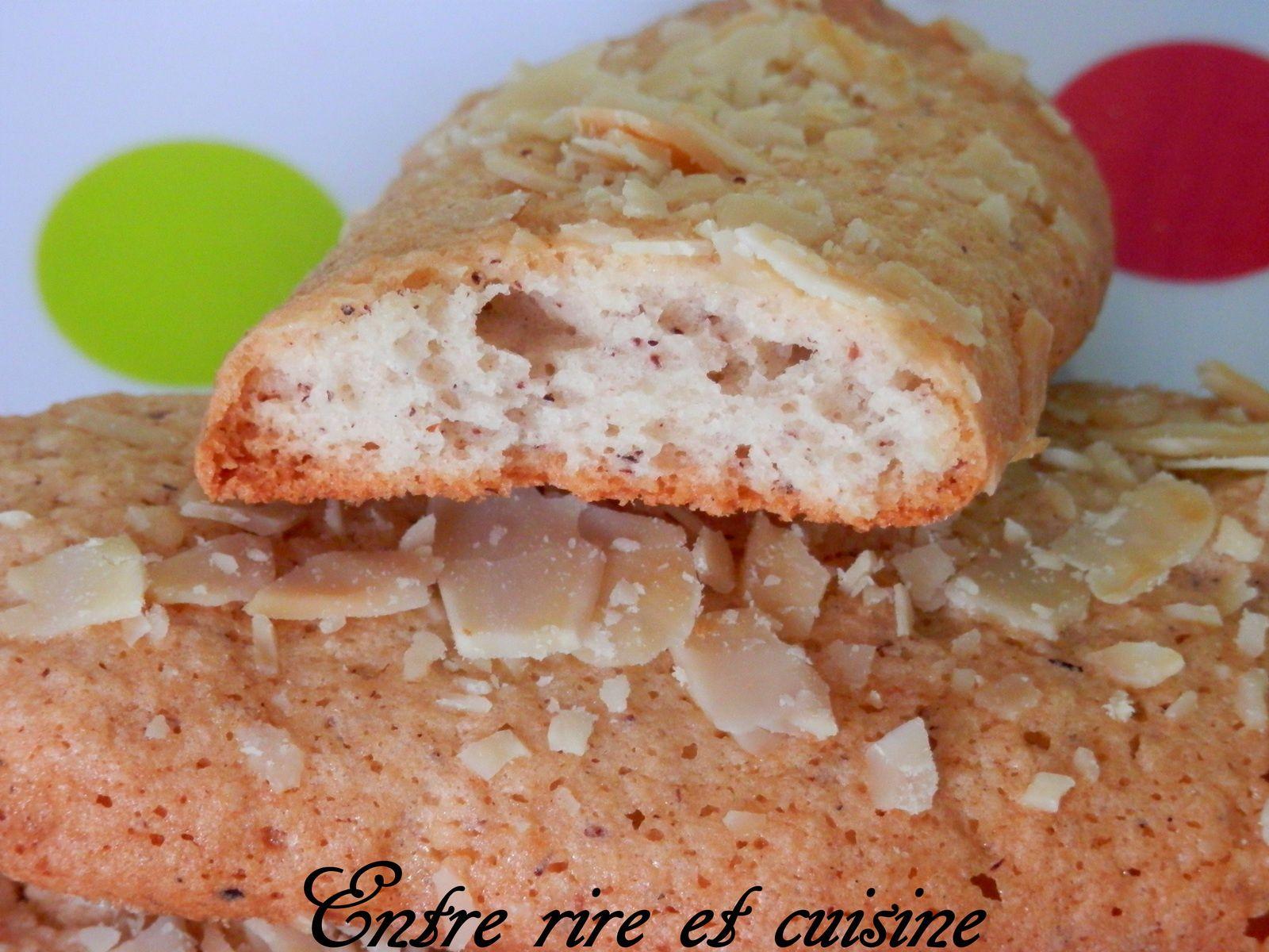 Doigts de fée aux Amandes (biscuits secs)