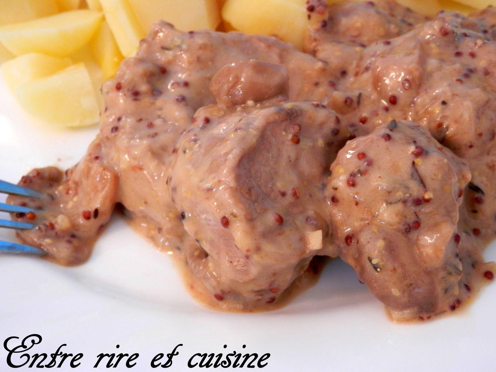 Filet mignon de porc au Muscat et Moutarde à l'ancienne