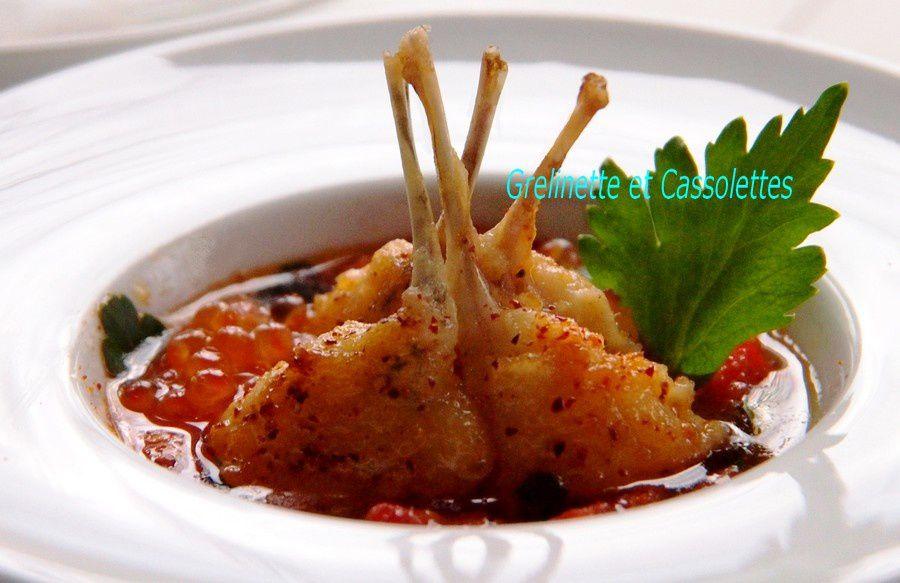 Cuisses de grenouille grelinette et cassolettes - Cuisiner cuisses de grenouilles surgelees ...