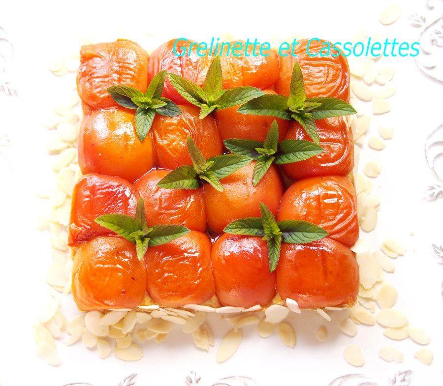 Tarte Tatin d'Abricots à l'Orange et à la Menthe