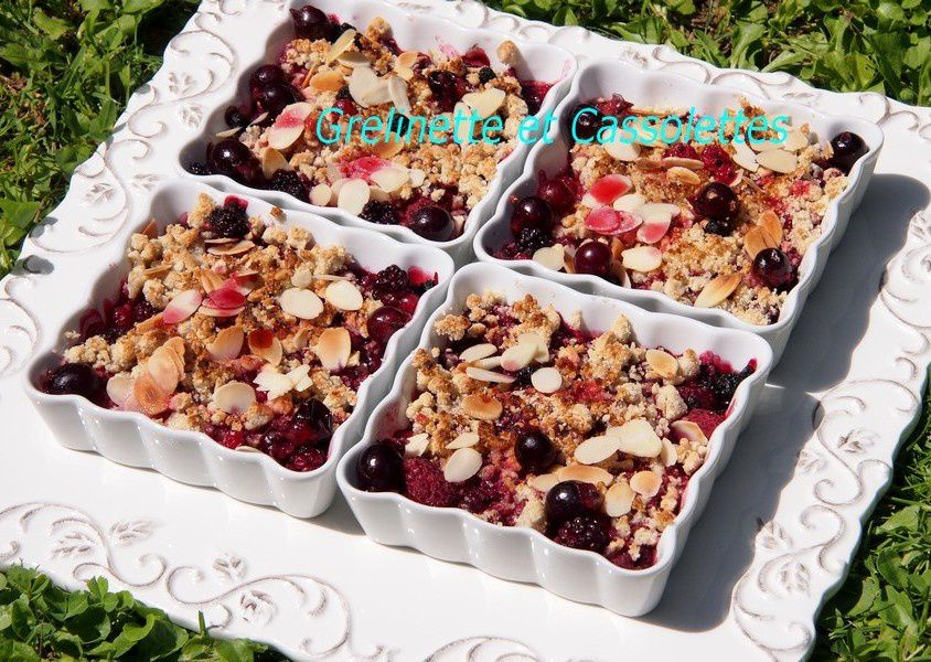 Crumble Amandine aux Fruits Rouges