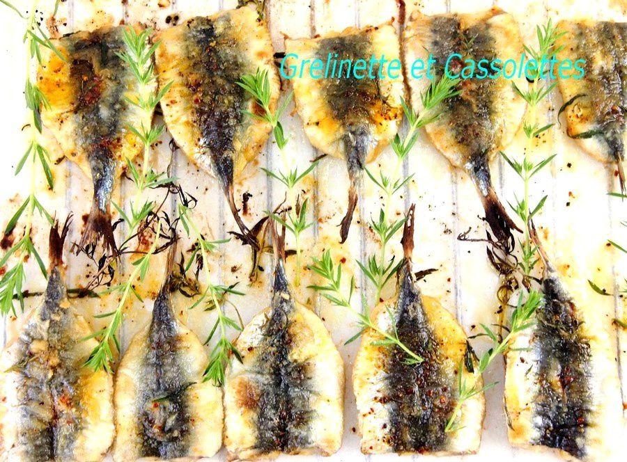 Sardines sous le Grill, croustillantes