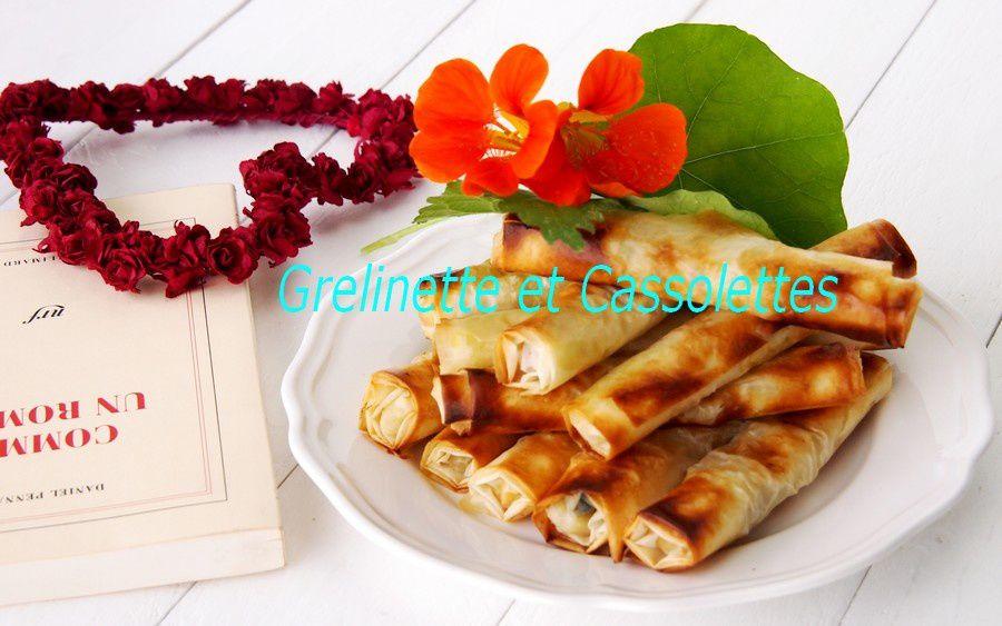 Croustillants de Pomme au Fromage de Brebis et aux Noix