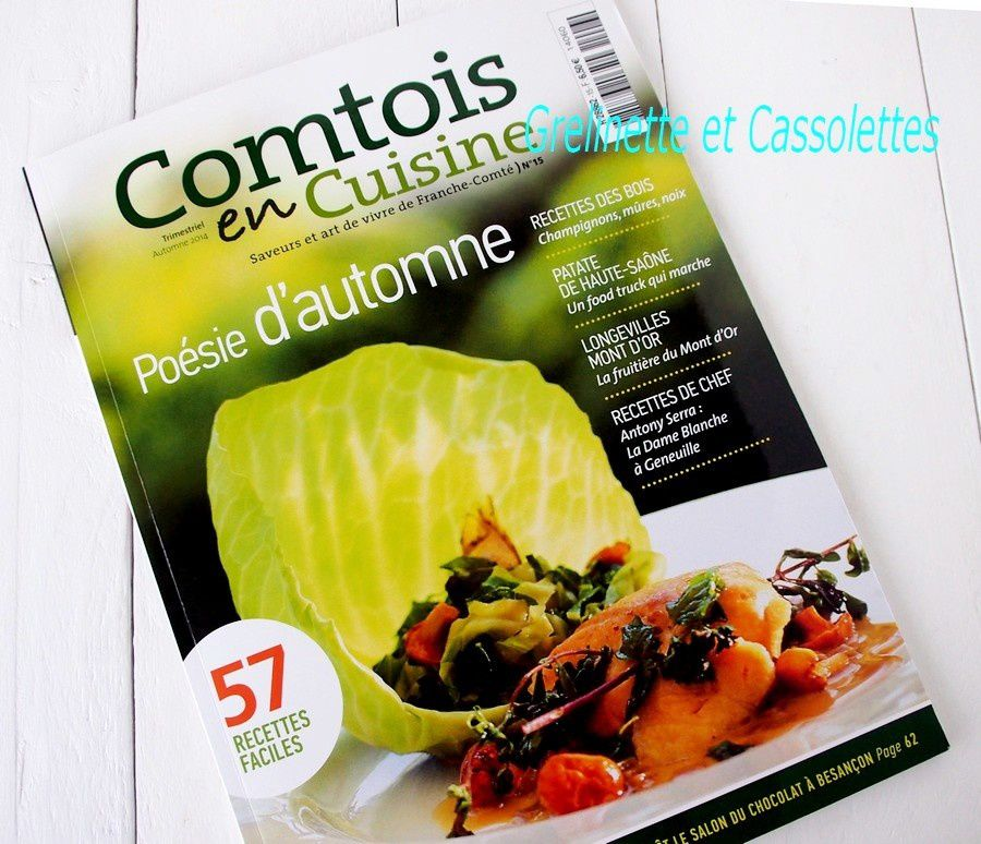 Comtois en Cuisine, Saveurs et art de vivre en Franche Comté… Numéro d'automne