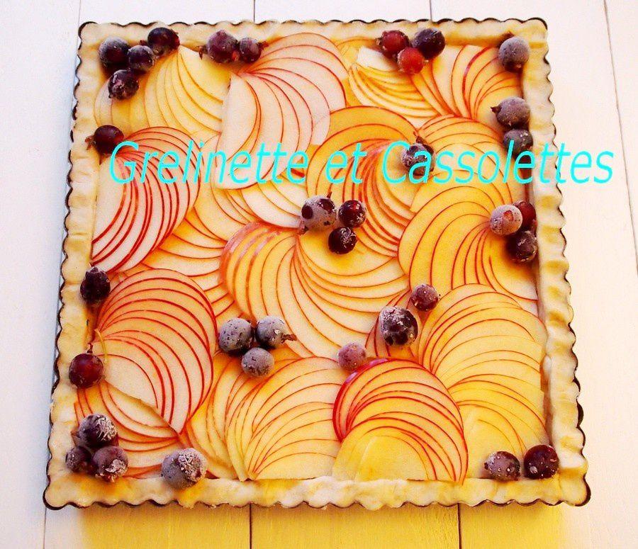 Tarte Pommes Caseilles, façon Grelinette et Cassolettes Design