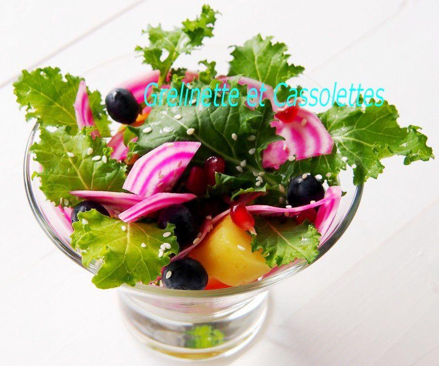Salade croquante de Kale aux deux Pommes